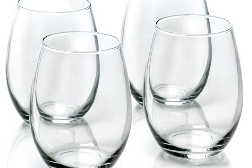 Anchor Hocking 15-Ounce 4-Piece Stemless Wine Glass Set