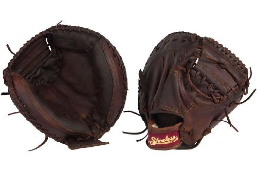 Shoeless Joe Gloves Brown Catcher's Mitt, 34""