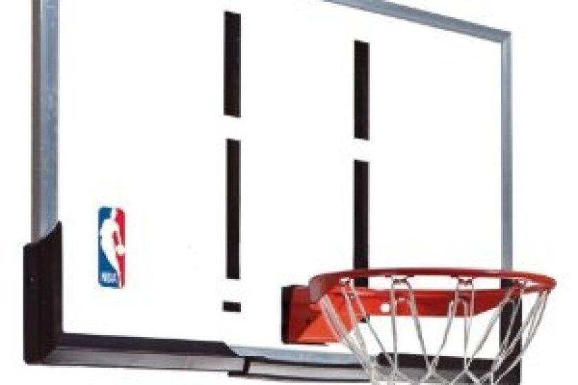 Spalding 79564 NBA Acrylic 54 Arena Slam Basketball Backboard and Rim Combo
