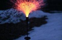 Mr. Light 44334 Single Solar Fiber Optic Garden Stake with Color Changing LED