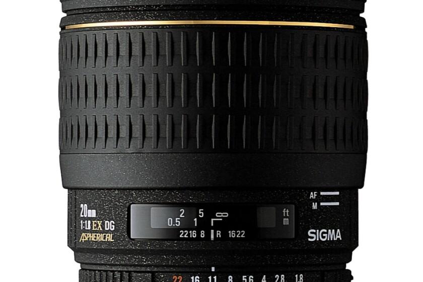 Sigma Super Wide Angle 20mm f/1.8 EX Aspherical DG DF RF Autofocus Lens for Canon EOS