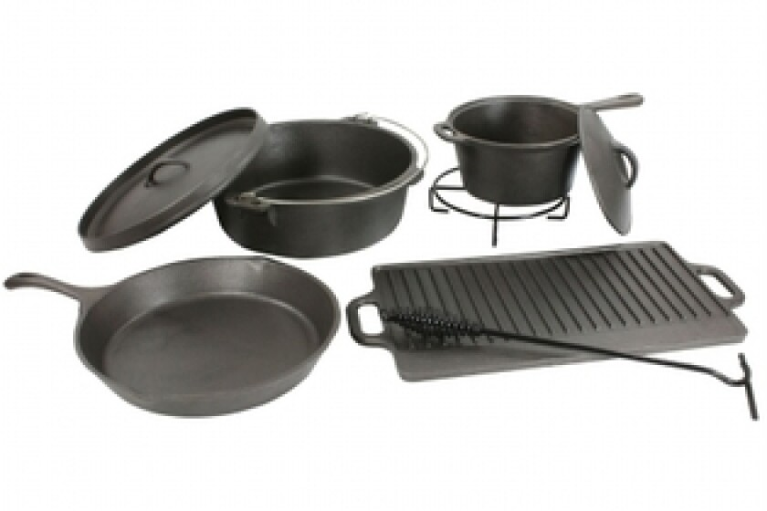 Sportsman Series  CICS8 8 Piece Complete Cast Iron Cookware Set
