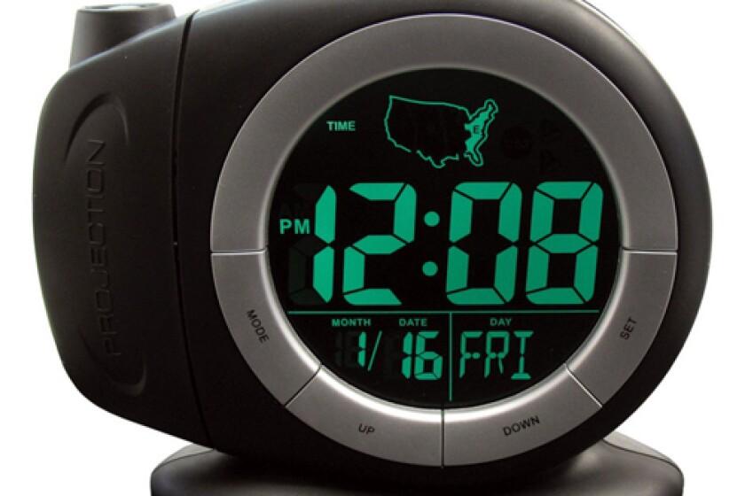 Elgin 3468E Electric Auto-Setting Projection Dual Alarm Clock