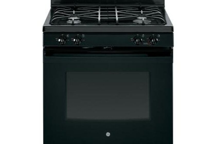 "GE 30"" Black Gas Sealed Burner Range - JGB640DEFBB"