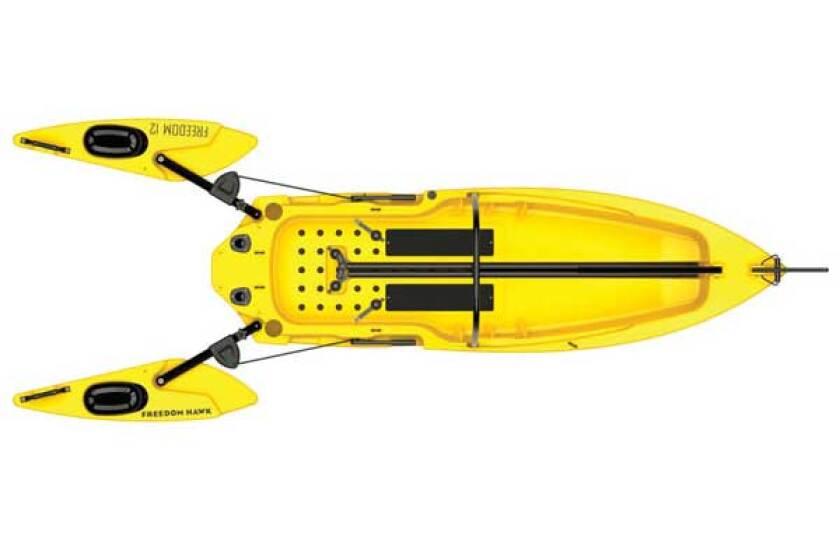 Freedom Hawk 12 Stand Up Fishing Kayak