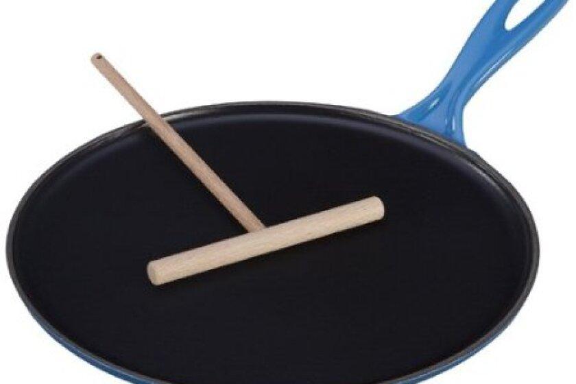 Le Creuset Enameled Cast-Iron 10-2/3-Inch Crepe Pan