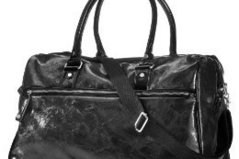 Mossimo Black: Front Zip Style Luster Weekend Duffle Bag