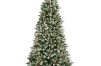 Vickerman 6.5' Pre Lit Frosted Edina Slim Artificial Christmas Tree