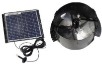 Honeywell 12-Watt Gable Mount Solar Powered Attic Fan Model 527SHON103BLK