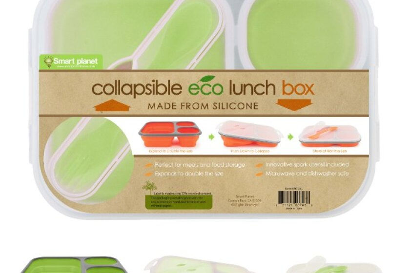 Smart Planet Silicone Collapsible Lunchboxes