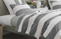 West Elm Striped Duvet Cover Set