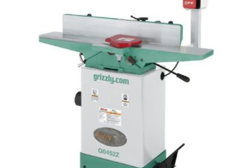 """Grizzly G0452Z, 6"""" x 64"""" Jointer with Spiral Cutterhead"""