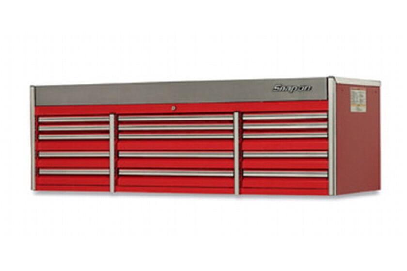 """Snap-On KECN843A0PBO, EPIQ Triple Bank 15 Drawer 84"""" Wide Top Chest"""