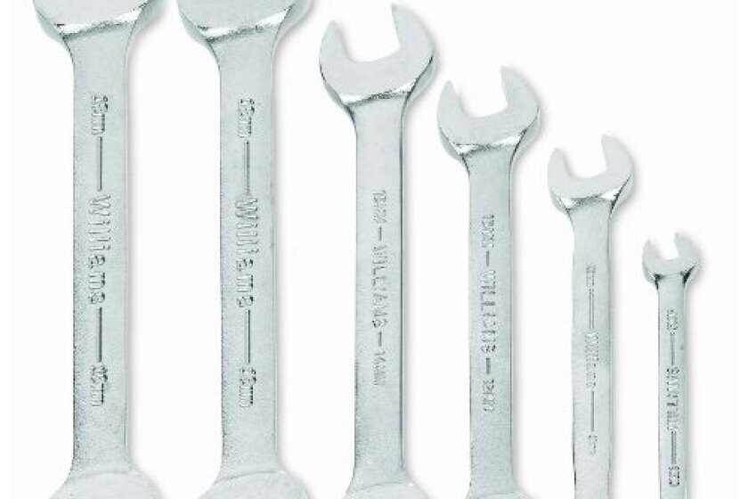 JH Williams MWS-26 6-Piece Double Head Open End Wrench Set