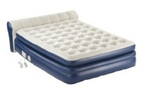 AeroBed Elevated Premier Mattress with Headboard and Built-In Pump, Queen