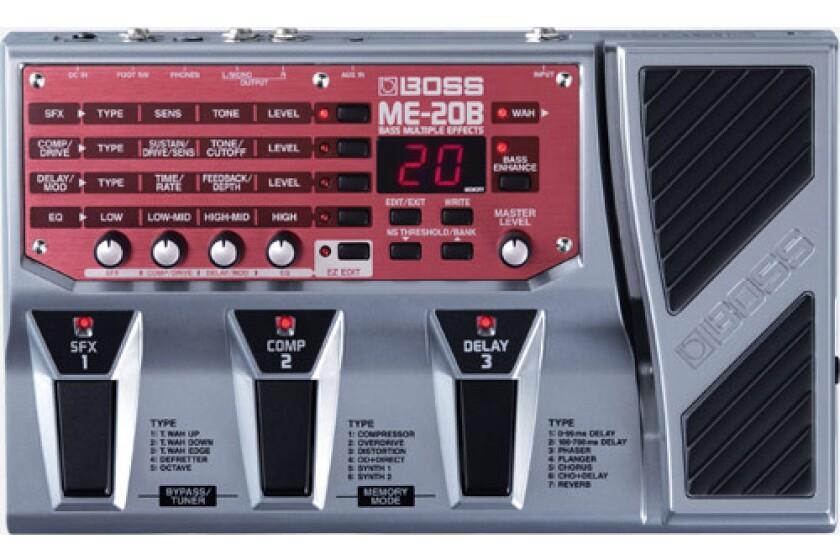 Boss ME20B Bass Guitar Multi Effects Pedal