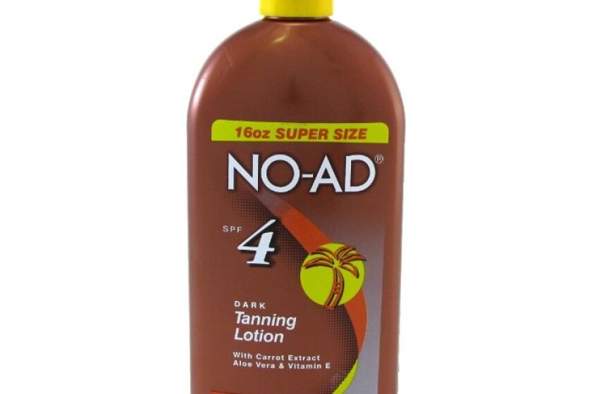 NO-AD Dark Tanning Lotion - SPF 4