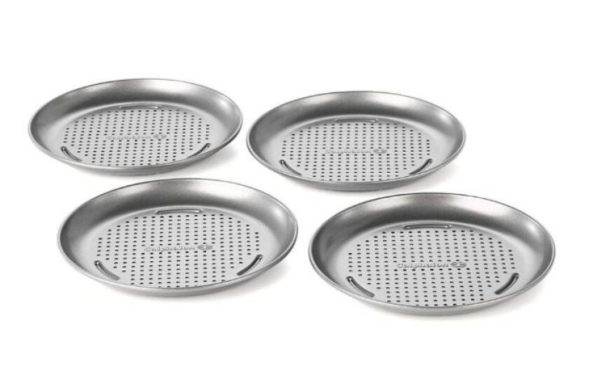 Simply Calphalon Nonstick Bakeware 4 Piece Mini Pizza Pan Set