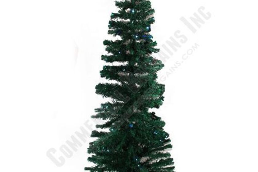 Commercial Bargains 7 Foot Pre-Lit Multi-Color LED Fiber-optic Artificial Christmas Tree