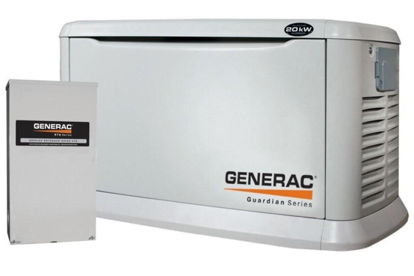 Generac Guardian Series 5875, 20kw Air Cooled Standby Generator