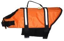 Water Doggy Fluorescent Orange Dog Life Jacket