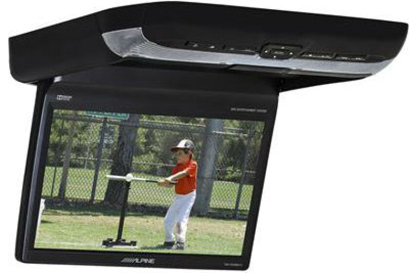 "Alpine 10.2"" Monitor with Built-in DVD PKG-RSE3DVD"