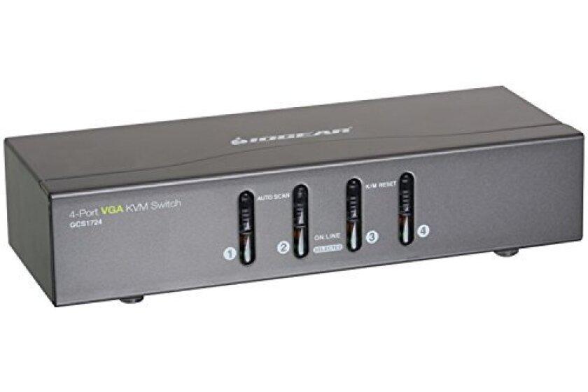 IOGEAR 4 Port VGA KVM PS2 Switch and USB - GCS1724
