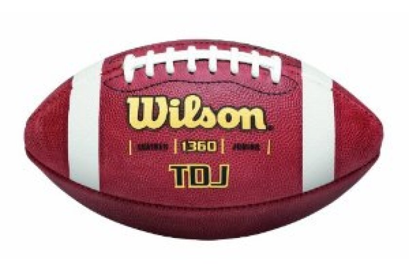 Wilson TDJ Junior Leather Game Football