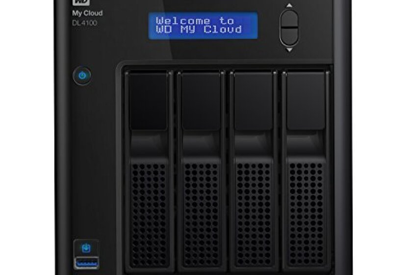 WD 8TB My Cloud DL4100 Business Series Network Attached Storage - WDBNEZ0080KBK-NESN
