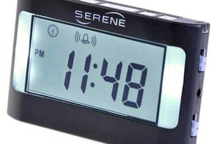 Serene VA3 Vibrating Travel Alarm Clock