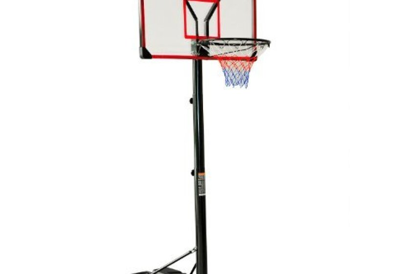 Aosome Clear Acrylic Adjustable Height Indoor/Outdoor Portable Basketball Hoop