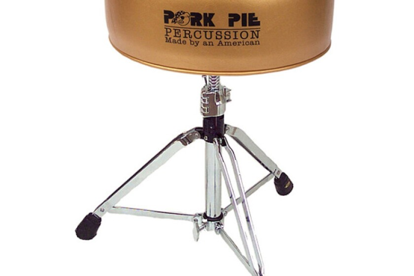 Pork Pie Round Throne - Metallic Gold/Black Crush
