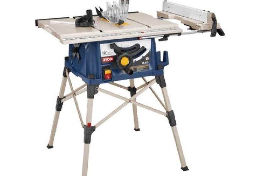 """Ryobi 10"""" Portable Table Saw with Stand"""