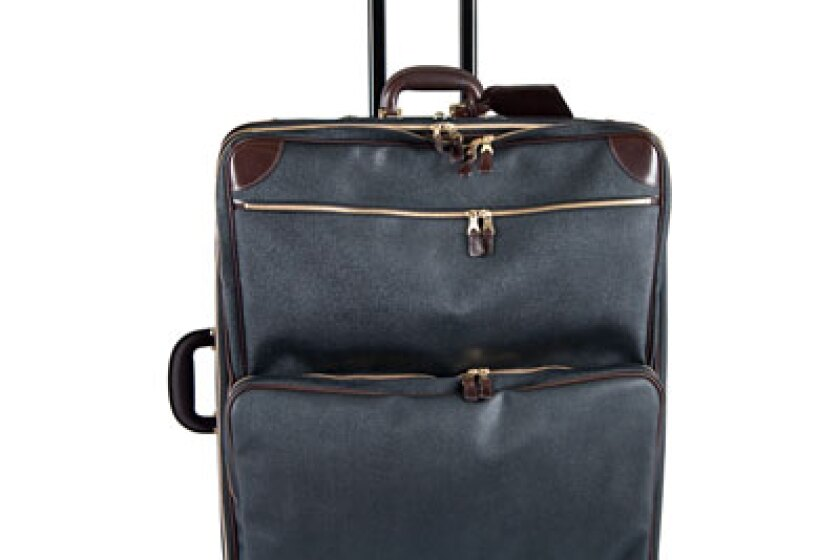 J. Peterman Leather Rolling Packing Bag