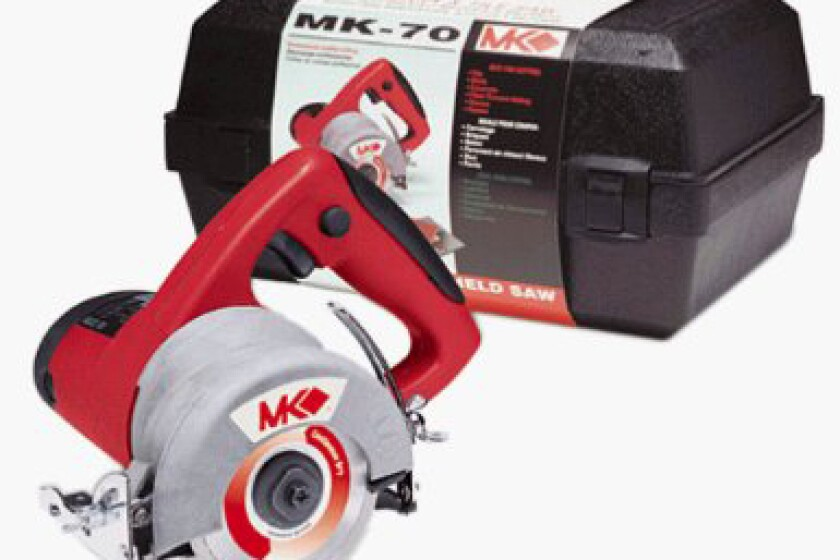"MK Diamond MK-70 / 157461 1/2 HP 4"" Hand-Held Masonry & Tile Saw Kit"