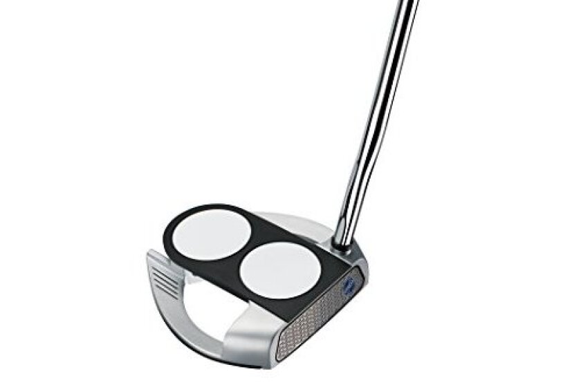 Odyssey Works Versa 2-Ball Fang Tank Putter with SuperStroke Grip