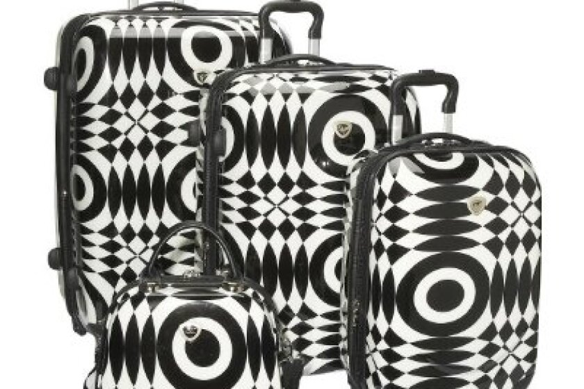 International Traveller Shiny Optical 4-Piece Luggage Set
