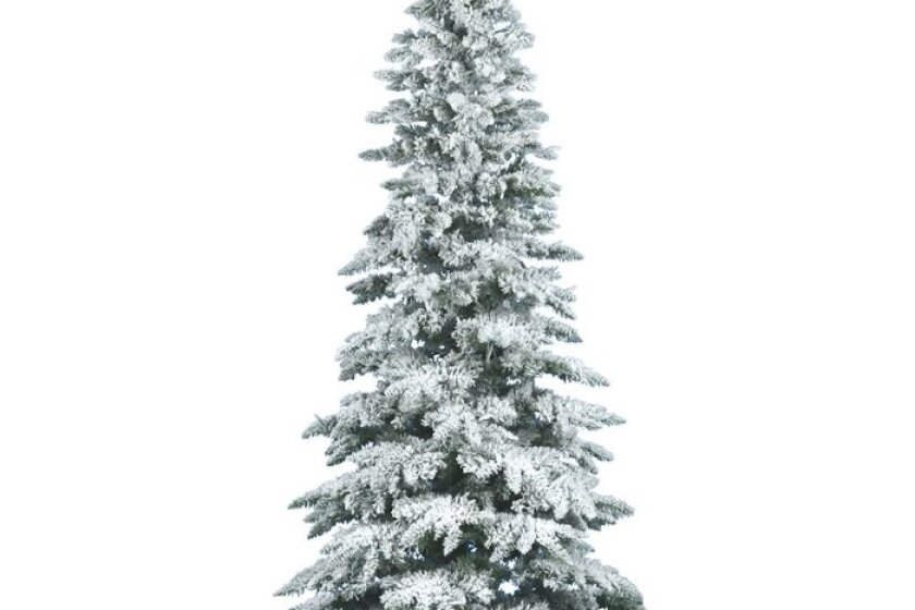 Vickerman 7.5 Foot Flocked Slim Utica Fir Unlit Christmas Tree