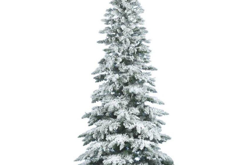 Vickerman 7.5 Foot Flocked Slim Utica Fir Unlit Christmas Tree