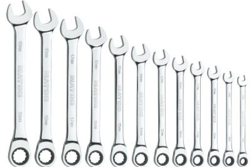 Matco Tools S7GRCM12 Metric Ratcheting Wrench Set