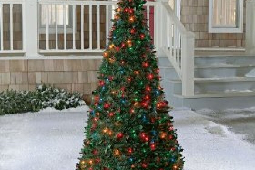 Brookstone 6' Pre-Lit Pull-Up Christmas Tree