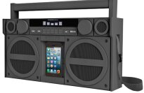 iHome iBT44 Bluetooth Portable FM Boombox Speaker Dock