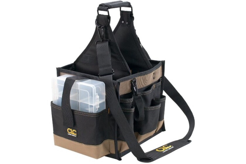 best Custom LeatherCraft 1528, 23 Pocket Extra Large Electrical and Maintenance Tool Carrier