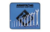Armstrong 53-273 10pc Full Polish Open End Wrench Set