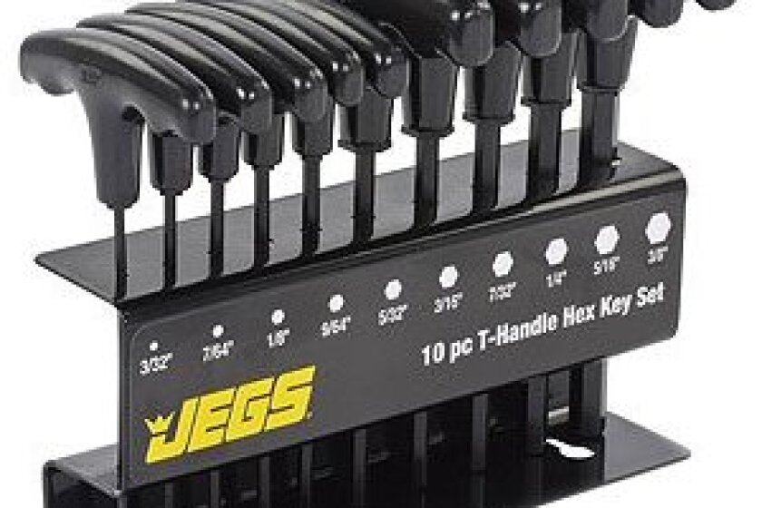 JEGS Performance Products 80710 T-Handle Hex Key Set