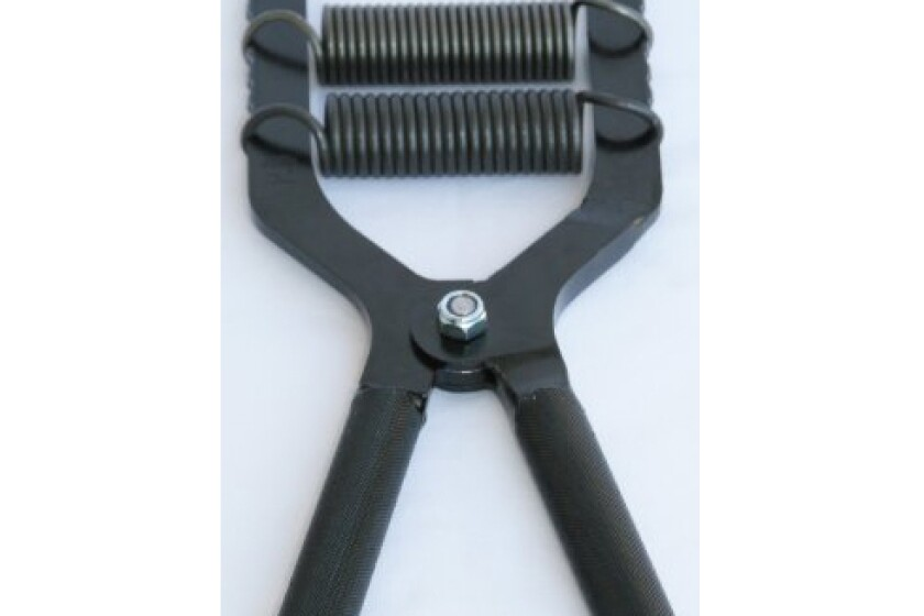 Robert Baraban Black Adjustable Hand Gripper 50/500lbs Resistance