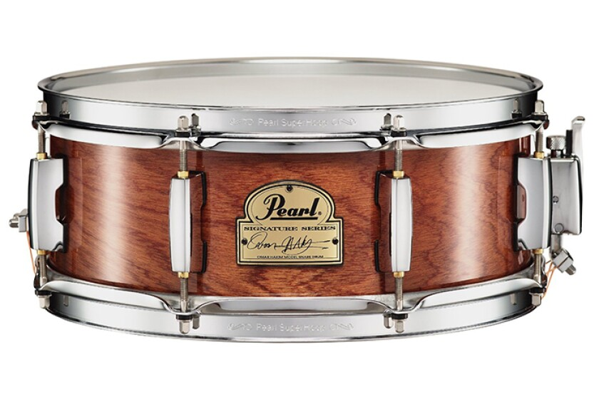 "Pearl OH1350 Omar Hakim Signature 13x5"" African Mahogany Snare Drum"