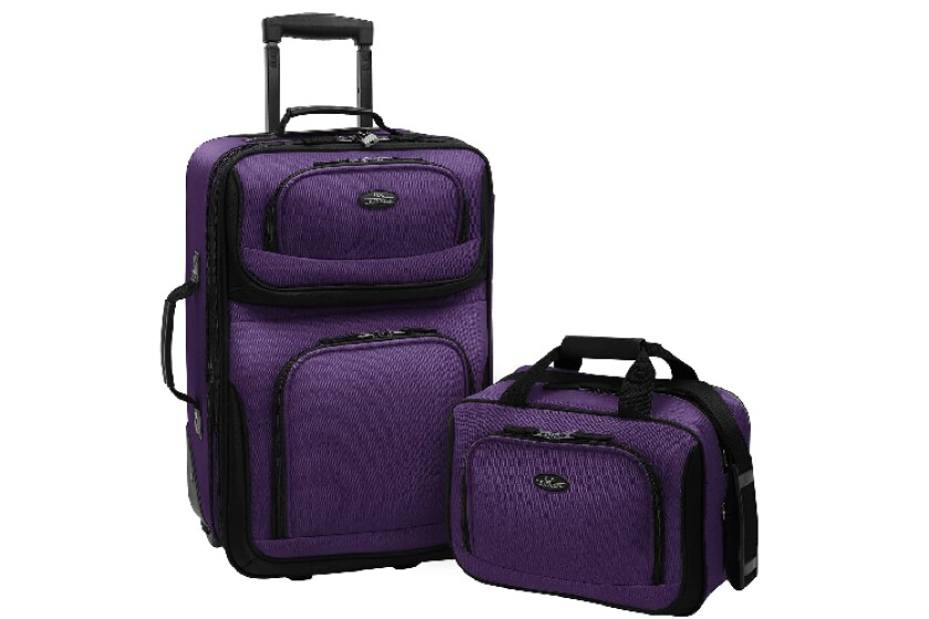 best US Traveler Rio Two Piece Expandable Carry-On Luggage Set