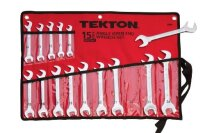 TEKTON 2009 Angle Open End Mtric 15-Piece Wrench Set
