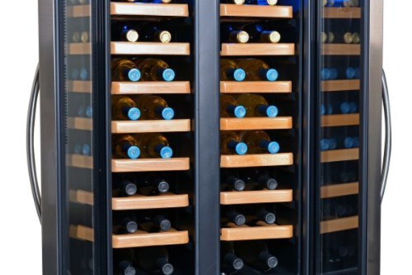 NewAir 32 Bottle Dual Zone Thermoelectric Wine Cooler - AW-321ED
